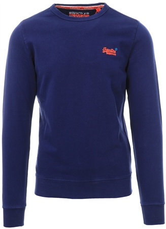 Superdry Beachwater Blue Orange Label Pastel Line Crew Sweatshirt  - Click to view a larger image