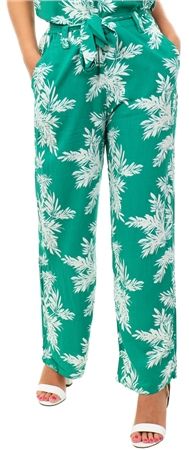 Only Cadmium Green Printed Trousers  - Click to view a larger image