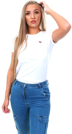 Levi's White Perfect Tee  - Click to view a larger image
