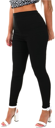 Parisian Black High Waist Skinny Trousers  - Click to view a larger image