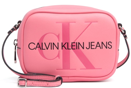 Calvin Klein Pop Pink Cross Body Camera Bag  - Click to view a larger image