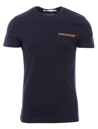Calvin Klein Night Sky / Iceland Poppy Slim Organic Cotton T-Shirt  - Click to view a larger image