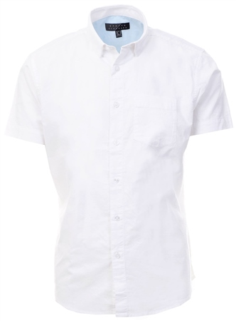 Broken Standard White Damian Short Sleeve Shirt  - Click to view a larger image