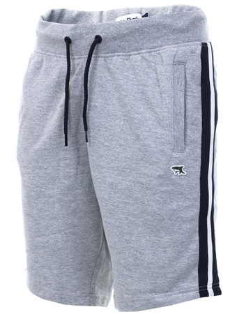Le Shark Grey Side Panel Stripe Shorts  - Click to view a larger image