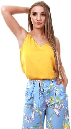 Only Mango Mojito Scallop Edge Cami Top  - Click to view a larger image