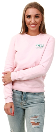 Jack Wills Blush Eton Classic Crew Sweatshirt  - Click to view a larger image