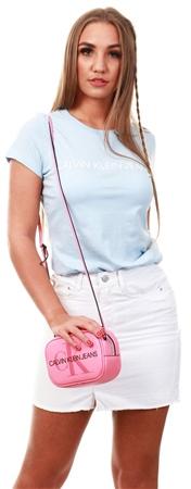 Calvin Klein Skyway Blue Slim Logo Short Sleeve T-Shirt  - Click to view a larger image
