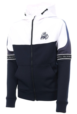 Kings Will Dream Navy/White Junior Skene Full Zip Hooded Top  - Click to view a larger image