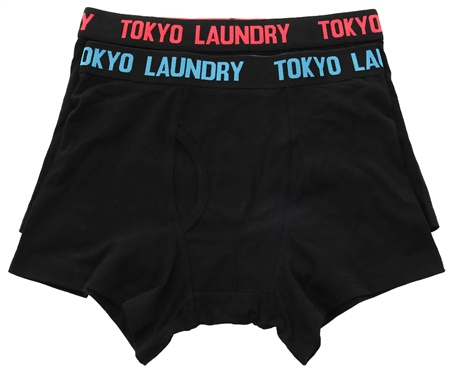 Tokyo Laundry Paradise Pink 2 Pack Boxers  - Click to view a larger image
