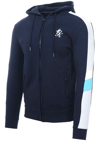 Gym King Navy Night Capone Zip Through Tracksuit Top  - Click to view a larger image