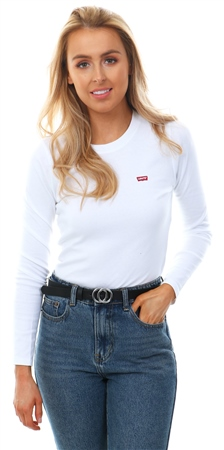 Levi's White Long Sleeve Baby Tee  - Click to view a larger image