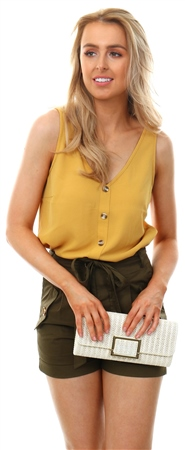 Veromoda Mustard Sleeveless Top  - Click to view a larger image