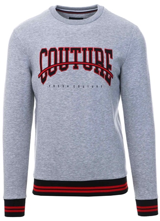 Fresh Couture Grey Rousillon Sweatshirt  - Click to view a larger image