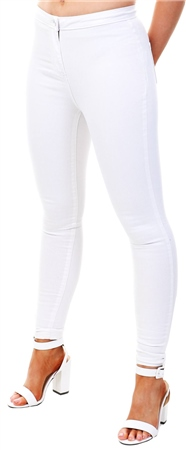 Parisian White High Waisted Jeggings  - Click to view a larger image