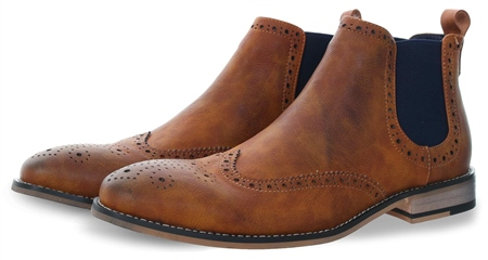 Cavani Tan Hound Chelsea Boots  - Click to view a larger image
