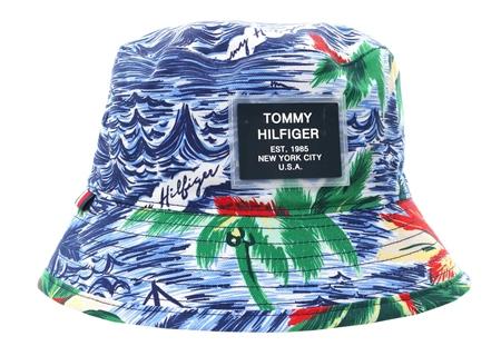 5f55edcc Hilfiger Denim Hawaiian Print/Tommy Navy Tropical Print Reversible Bucket  Hat | | Shop the latest fashion online @ DV8