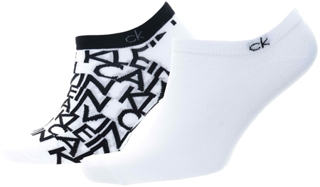 Calvin Klein White 2 Pack Liner Socks  - Click to view a larger image