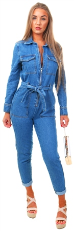 Momokrom Mid Blue Denim Boilersuit  - Click to view a larger image