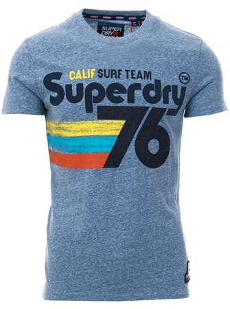 Superdry Bliss Blue 76 Surf T-Shirt  - Click to view a larger image