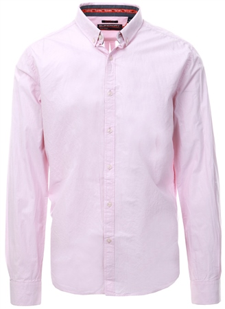 Superdry Pink International Poplin Long Sleeve Shirt  - Click to view a larger image
