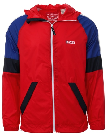 Levi's Chinese Red Colorblock Windrunner Jacket  - Click to view a larger image