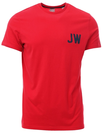Jack Wills Red Bedwyn T-Shirt  - Click to view a larger image