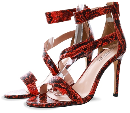 Dv8 Orange Snake Textured Shoe  - Click to view a larger image