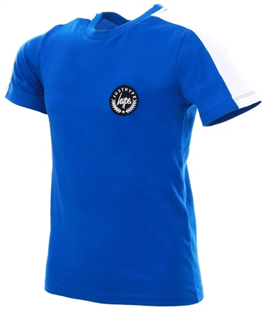 Hype Blue White Tape Sleeve Kids T-Shirt  - Click to view a larger image