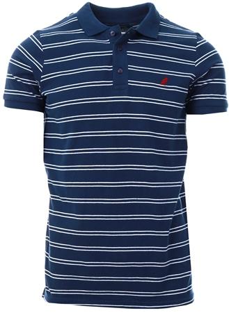 Kangol Navy Bart Stripe Polo Shirt  - Click to view a larger image