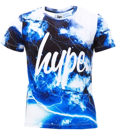 Hype Multi Lightning Space Kids T-Shirt  - Click to view a larger image