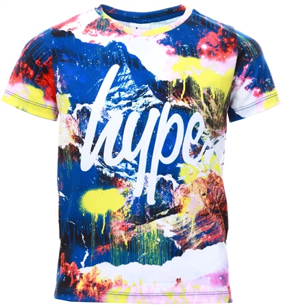 Hype Paint Mountain Kids T-Shirt  - Click to view a larger image