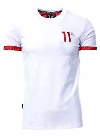 11degrees White Logo T-Shirt  - Click to view a larger image