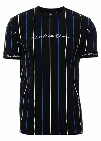 Kings Will Dream Black/Cobalt Lifton Stripe T-Shirt  - Click to view a larger image