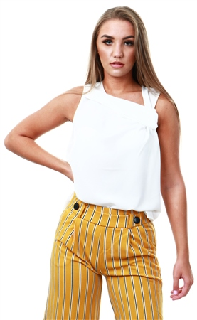 Only Cloud Dancer Knot Sleeveless Top  - Click to view a larger image