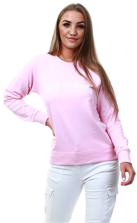 Daisy St Pink Living The Dream Sweater  - Click to view a larger image