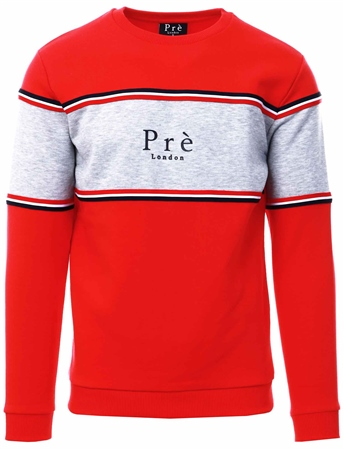 Pre London Red College Sweatshirt  - Click to view a larger image