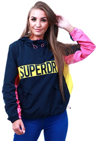Superdry Navy / Pink / Yellow Chroma Overhead  - Click to view a larger image