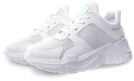 Public Desire White Holographic Chunky Trainer  - Click to view a larger image