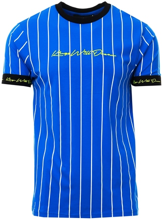 Kings Will Dream Cobalt Clifton Pinstripe T-Shirt  - Click to view a larger image