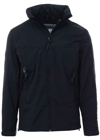 Superdry Black Cliff Hiker Hybrid Jacket  - Click to view a larger image