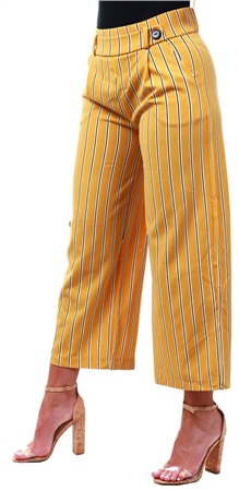 hot-selling clearance top design great quality Yellow / Harvest Gold Striped Trousers - XS