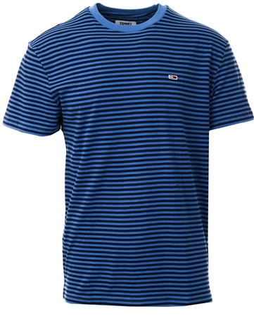 Tommy Jeans Dutch Blue / Black Iris Tommy Classic Stripe T-Shirt  - Click to view a larger image
