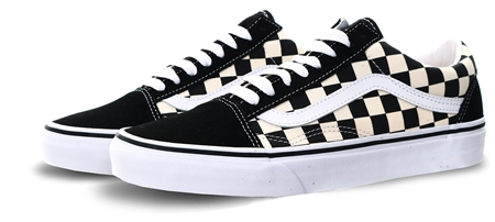 Vans Black/White Primary Check Old Skool Shoes  - Click to view a larger image