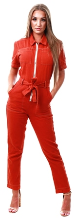 Momokrom Rust Short Sleeve Boiler Suit  - Click to view a larger image