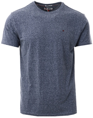 Tommy Jeans Black Iris Essential Cotton Blend T-Shirt  - Click to view a larger image