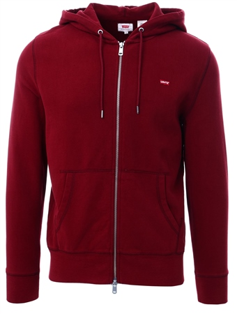 Levi's Warm Cabernet - Red Original Housemark Zip-Up Hoodie  - Click to view a larger image