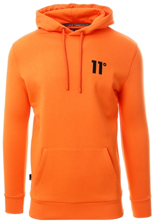 11degrees Neon Orange Core Pull Over Hoodie  - Click to view a larger image