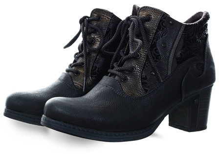 Mustang Graphite Textured Ankle Boot  - Click to view a larger image