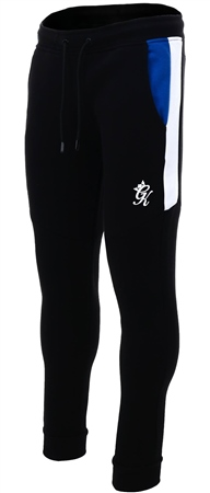Gym King Black Core Plus Contrast Tracksuit Bottoms  - Click to view a larger image
