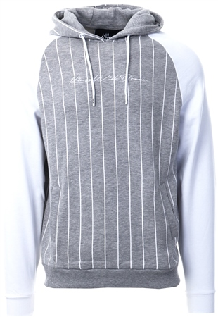 Kings Will Dream Grey/White Taylor Raglan Stripe Hoodie  - Click to view a larger image